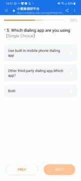 Xiaomi a POCO telefony zhasínání displeje proximity senzor dotazník aplikace na volání