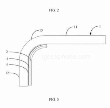 Xiaomi patent boční čtečka otisků pod displejem 3