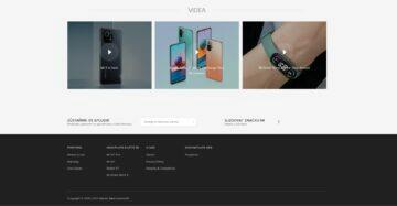 Xiaomi web v češtině patička