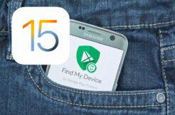 ztracený iPhone s iOS 15 Apple ztracený telefon find my device