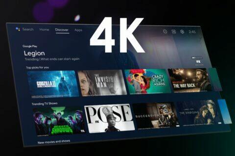 Anrdoid TV menu 4K