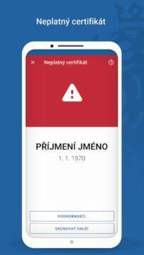 aplikace čTečka neplatný certifikát