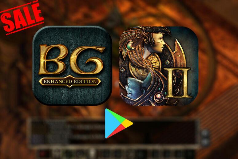 Baldur's Gate a Baldur's Gate II jsou nyní v Google Play ve slevě