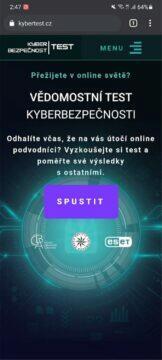 český Kybertest úvod