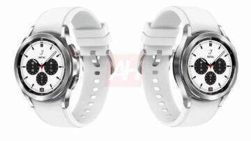 chytré hodinky Samsung Galaxy Watch 4 Classic luxusní hodinky smartwatch bílá barva