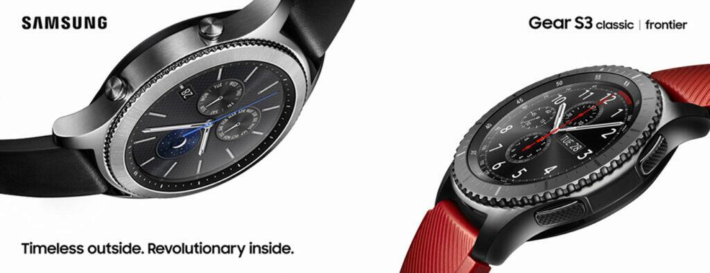 chytré hodinky Samsung Galaxy Watch 4 Classic luxusní hodinky smartwatch Gear S3 classic Gear S3 Frontier
