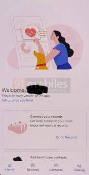 Google aplikace zdravotní záznamy screenshot