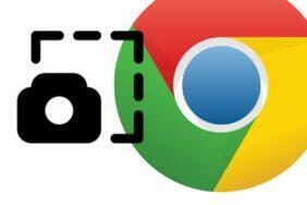 Google Chrome screenshot sdílecí menu