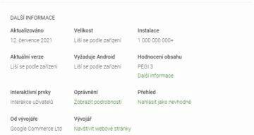 Google Tabulky miliarda stažení screen