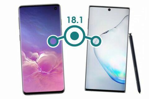 LineageOS 18.1 Samsung Galaxy Note10 S10