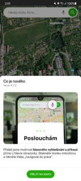 Mapy.cz hlasové vyhledávání příkazy info