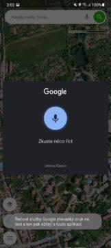 Mapy.cz hlasové vyhledávání příkazy mikrofon