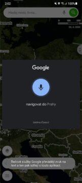 Mapy.cz hlasové vyhledávání příkazy vstup