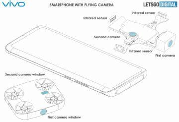 mobil s létající kamerou Vivo patent 2
