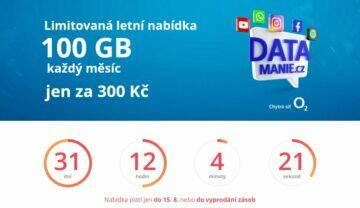 O2 datamanie 100 GB odpočet