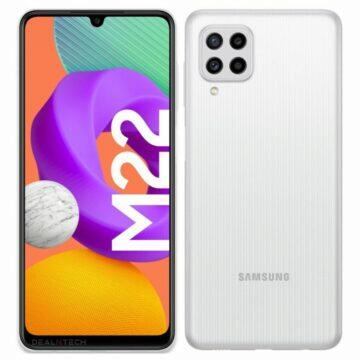 Samsung Galaxy M22 specifikace bílá