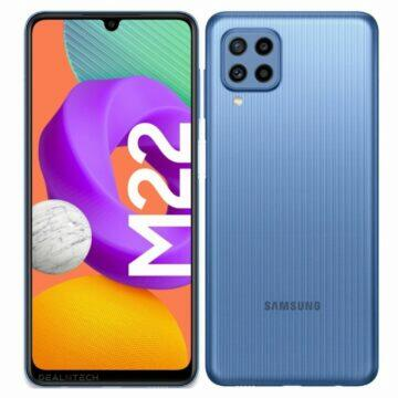 Samsung Galaxy M22 specifikace modrá