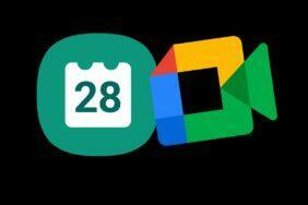 Samsung Kalendář Google Meet tlačítko integrace