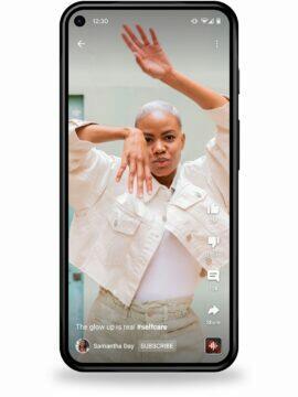 Sledování YouTube Shorts v mobilní aplikaci