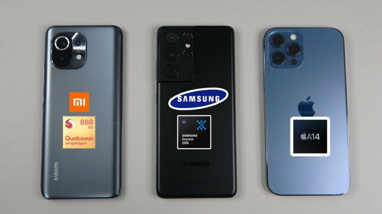 Snapdragon 888 vs Exynos 2100 vs A14 Bionic | Geekbench 5, Antutu, 3DMark