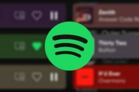 Spotify aplikace spodní menu redesign