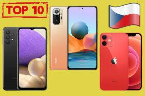 top 10 nejprodávanějších telefonů v čr