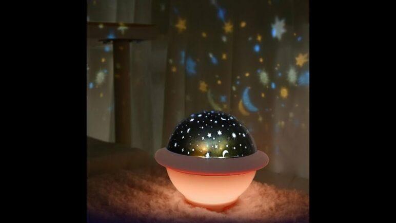 UFO Universe Projection Night Light Creative Rotating Romantic Table Lamp