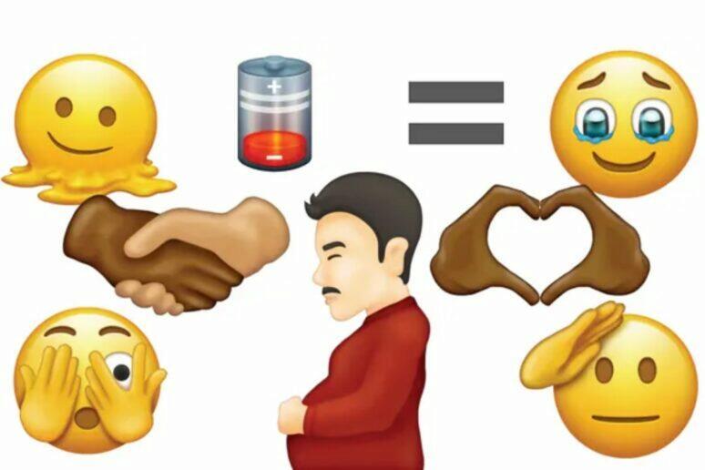 Unicode 14.0 těhotný muž emoji