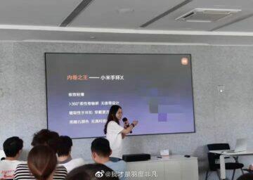 Xiaomi Mi Band X náramek displej prezentace 1