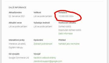 YouTube 10 miliard stažení Obchod Play Android screen