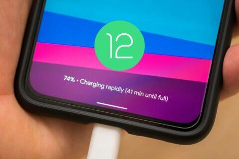 Android 12 adaptivní nabíjení pixel