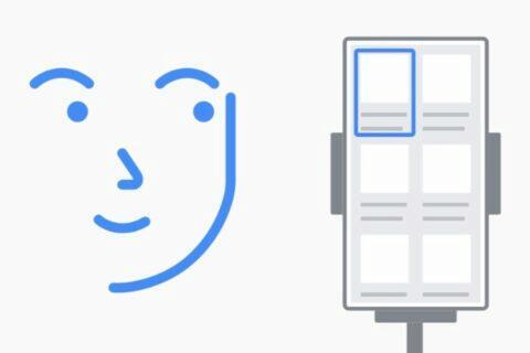 Android ovládání gesta obličejem