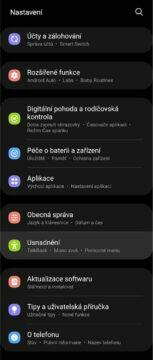 Android ovládání gesta obličejem nastavení 1