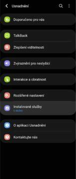 Android ovládání gesta obličejem nastavení 2
