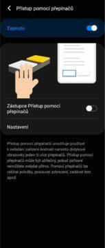 Android ovládání gesta obličejem nastavení 4