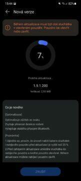 aplikace Huawei AI Life 14 aktualizace