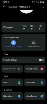 aplikace Huawei AI Life 2 hlavní karta