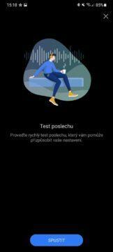 aplikace Huawei AI Life 5 test poslechu