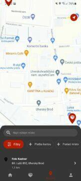 aplikace Zásilkovna test 3 mapa