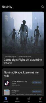 AppGallery hlavní karta