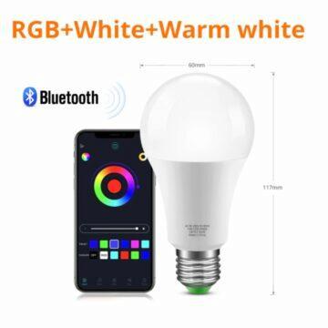 Bluetooth RGB E27 žárovka
