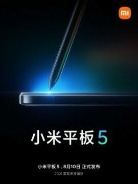 Datum představení Xiaomi Mi Pad 5