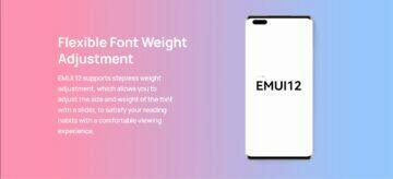 EMUI 12 novinky Huawei písmo