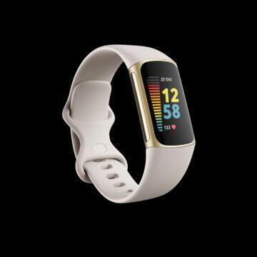 Fitbit Charge 5 bílá zlato