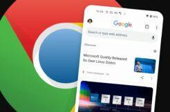 Google Chrome kanál Objevit hlavní karta