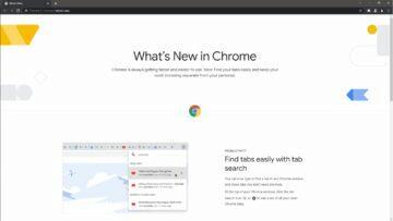 Google Chrome karta Novinky ukázka 1