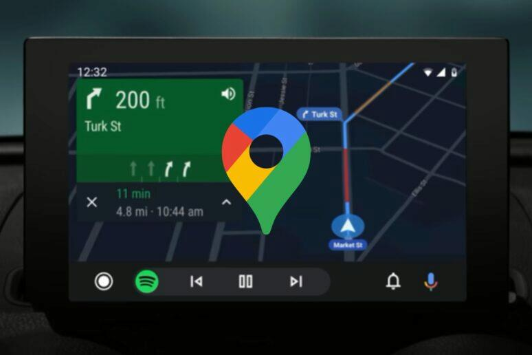 google mapy android auto chyby