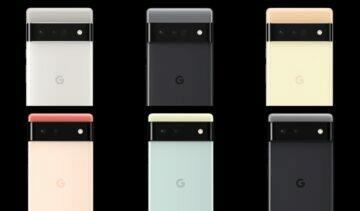 Google Pixel 6 barvy záda