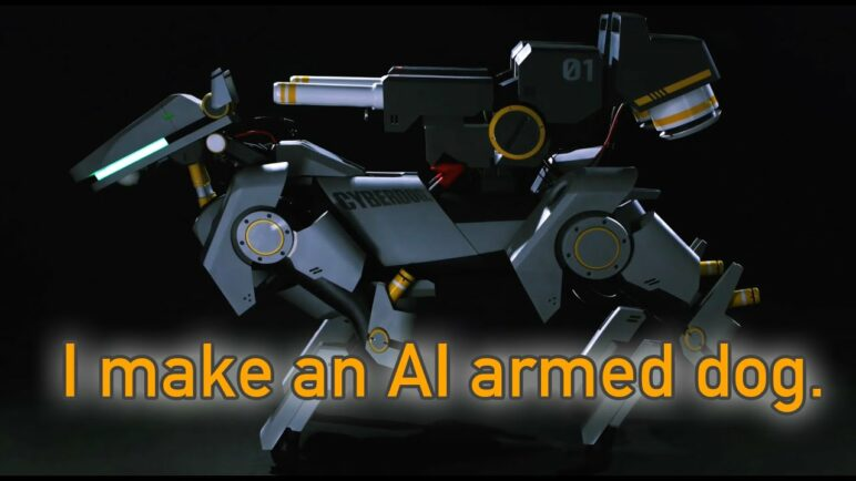How cool a AI dog could be! I armed it!