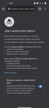 Jak zapnout anonymní režim v Google Chrome a k čemu slouží